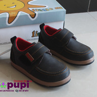 harga C135 Little M Shoes Boy 1 Rekatan Dark Grey Tokopedia.com
