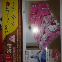 Sprei Kasur Lady Rose Motif Hello Kitty Ukuran 160 X 200