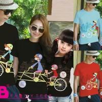 Baju Kaos Pasangan Keluarga Couple Family Anak Ayah Bunda VT-003