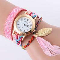 jam tangan gelang pita bulu halus - HHM322