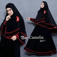 TERBARU!!! Hijab Gamis Camelia 2in1 (Dress Busui + Jilbab Khimar )