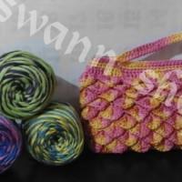clutch / handbag / tas kecil / hp/ dompet / rajut / rajutan