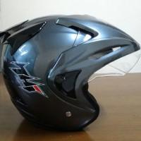 Helm Half Face THI Rookie Black Gloss Helm SNI Murah Terlaris