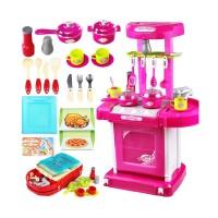 Toyogy Kitchen Set Packing Koper 008-58 Pink Mainan Anak