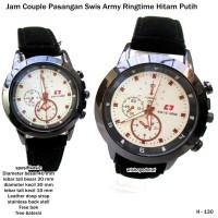jam tangan couple pasangan swiss army ringtime hitam putih full set