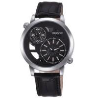 Jam Tangan SKONE Casual Men Leather Strap Watch Water Resistant 10m