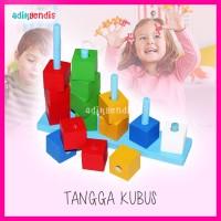 Jual Kubus susun warna Mainan Edukasi Edukatif Balok Puzzle Kayu Anak Murah