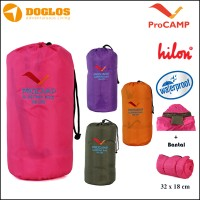 Sleeping Bag Hilon ProCAMP Dacron ada Bantal Waterproof Tikar gunung