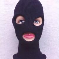 Masker Ninja Rajut 3 Lubang - Topi Kupluk Sebo