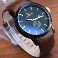 jam tangan ripcurl leather detroit crono watch man pria laki analog