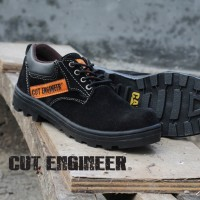 Cut Engineer Safety Low Boots Classic Leather - Hitam