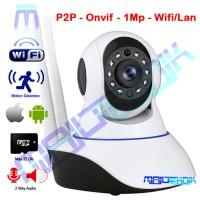 IP CAM CCTV Onvif HD 720 Wifi plus Door Alarm memory upto 32Gb