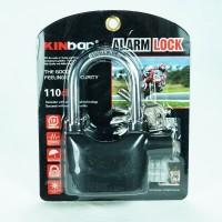Gembok Alarm Asli Kinbar 12cm Untuk Rumah / Motor
