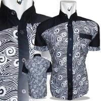 harga a0595 baju batik pria monochrome batik motif ungkel Tokopedia.com