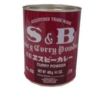 s&b spicy curry powder 400g japanese curry powder