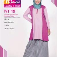 Gamis Nibras Teen Remaja  NT. 19 Purple Lavender & Coklat