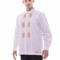 Baju Muslim Pria Nibras Koko Putih NK 13 Lengan Panjang