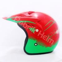 [JPN] Helm Cross PC18 Motif Z18 Merah