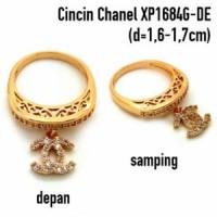 XP1684G-DE Cincin Perhiasan Lapis Emas Gold