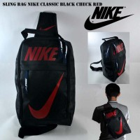 harga Tas Selempang Sepatu Slingbag Waitsbag Pria Nike Sling Black Red Tokopedia.com