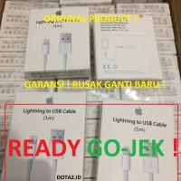 PROMO ! (GARANSI) KABEL LIGHTNING CABLE IPHONE 5/s/6/6+/7 ORIGINAL