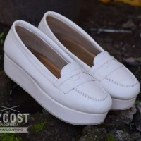 Sepatu Wanita Flat Shoes ORIGINAL AZCOST Revas White