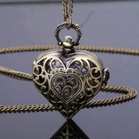 harga Pocket Watch Jam Saku Kalung Liontin Bandul Hati Heart Love Hollow Tokopedia.com