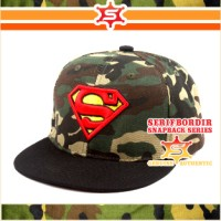 Topi Raphel Snapback Superman Rambo Bordir Apparel Hiking Cycle Travel