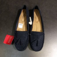 SEPATU FLAT SHOES TANIA NAVY SUEDE DEFLEX COMFORT BIG SIZE PAYLESS