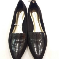 SALE SEPATU FLAT SHOES BLACK SNAKE CHRISTIAN SIRRIANO BIG SIZE PAYLESS