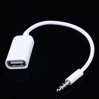 Flashdisk to Aux - Audio Male 3.5mm to USB Female - USB to Audio