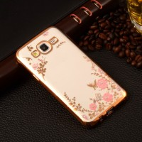Casing Hp SAMSUNG GALAXY J5 2015 J7 2015 Flower Diamond