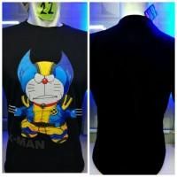 harga Kaos Combed Hitam Doraemon Wolverine Xman Anime Manga Komik Baju Tokopedia.com