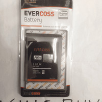 BATERAI EVERCOSS A66A DOUBLE POWER ORIGINAL/BATRE/BATTERY/BATERAY/BATT