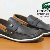 Sepatu Fantopel Pria Crocodile Santiago Kulit Casual Pria Murah