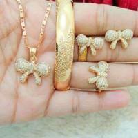 1 set perhiasan xuping lapis emas 18k model 10