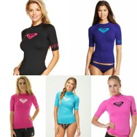 ROXY HEARTED SHORT SLEEVE RASHGUARD