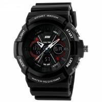 Jam tangan SKMEI AD 0966 Original SKMEI X-RAY dual time sporty black