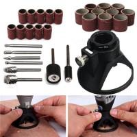 1Set 29pcs Dudukan Bor mata bor ukir kayu mini grinder paket kerajinan