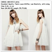 harga Lace Dress Rok Gaun Pesta Brukat Brokat Baju Wanita Korea Import Putih Tokopedia.com