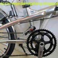 harga crank balap shimano 52, crank sepeda lipat, lebih enteng Tokopedia.com