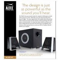 Altec Lansing VS2621 2.1 Multimedia Speaker System Bagikan : Speake