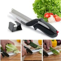 Clever Cutter Gunting Pemotong Daging & sayur Gunting+Talenan