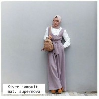 Dress wanita SR45 Kivee Jumsuit