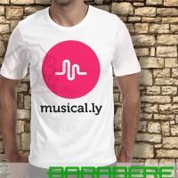 Kaos Distro, Kaos Oblong, Kaos Logo - Kaos Sosmed Musicaly Logo
