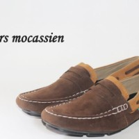 sepatu casual handmade loafers slip on santai kickers moccasin suede