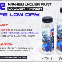T-02 LOW DRY THINER 210ML (LACUER TYPE) - thiner gundam modelkit