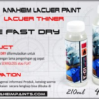 T-01 FAST DRY THINER 210ML (LACUER TYPE) - thiner gundam modelkit