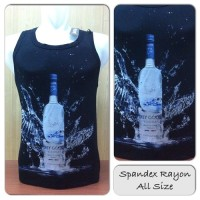 Singlet Spandex Grey Goose LIQ223