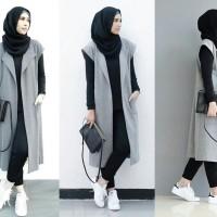 Hijab Set pasmina+baju+legging+long vest/rompi, Setelan muslimah